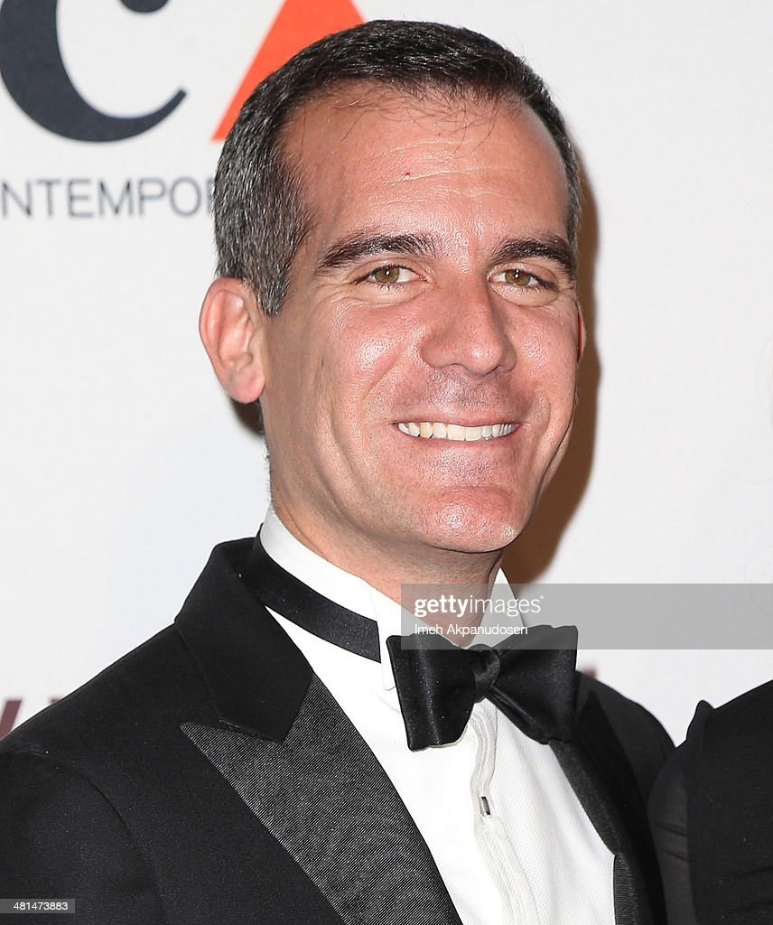 Los Angeles Mayor <a gi-track='captionPersonalityLinkClicked' href=/galleries/search?phrase=Eric+Garcetti&family=editorial&specificpeople=635706 ng-click='$event.stopPropagation()'>Eric Garcetti</a> attends The Museum Of Contemporary Art, Los Angeles, Celebrates 35th Anniversary Gala Presented By Louis Vuitton at The Geffen Contemporary at MOCA on March 29, 2014 in Los Angeles, California.