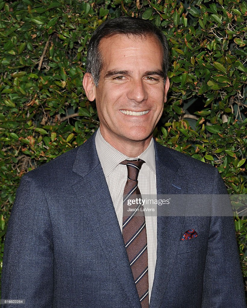 Los Angeles Mayor <a gi-track='captionPersonalityLinkClicked' href=/galleries/search?phrase=Eric+Garcetti&family=editorial&specificpeople=635706 ng-click='$event.stopPropagation()'>Eric Garcetti</a> attends the opening of 'The Wizarding World of Harry Potter' at Universal Studios Hollywood on April 5, 2016 in Universal City, California.
