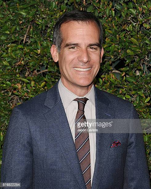 Los Angeles Mayor Eric Garcetti attends the opening of 'The Wizarding World of Harry Potter' at Universal Studios Hollywood on April 5 2016 in...