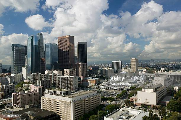 CA, Los Angeles, Morning view of downtown
