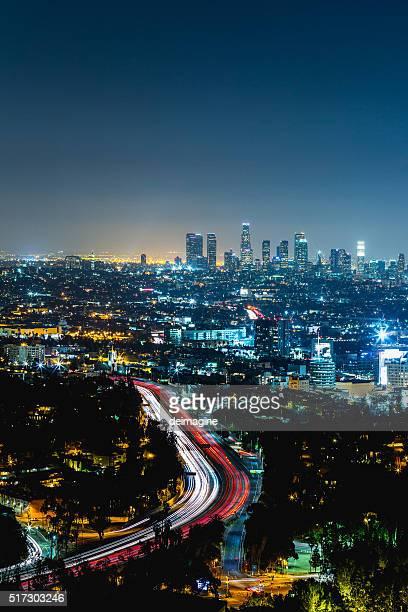 ロサンゼルスの夜の街並み