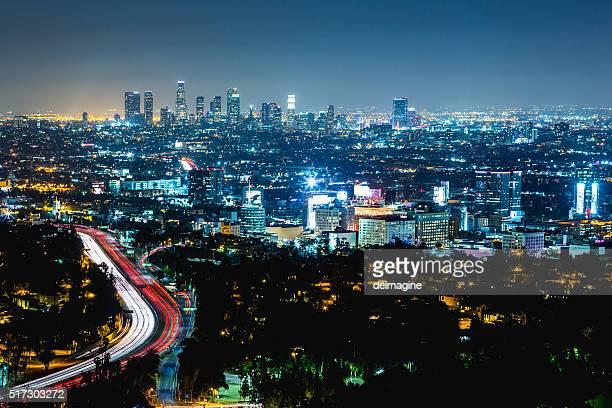 Los Angeles Nacht Skyline