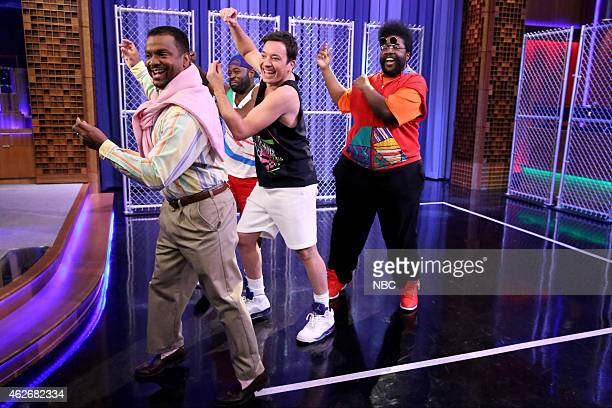 FALLON 'Los Angeles Opening Sequence' Pictured Alfonso Ribeiro Tariq Trotter host Jimmy Fallon and AhmirKhalib Thompson