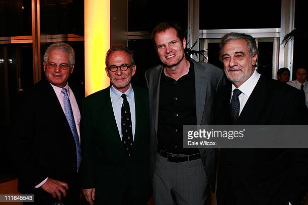 Los Angeles Opera Chairman and CEO Marc Stern Ron Rifkin Jack Coleman and Placido Domingo attend the Dinner Reception for the Los Angeles Opera's...