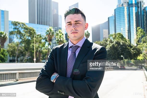 USA, Los Angeles, portrait of confident businessman