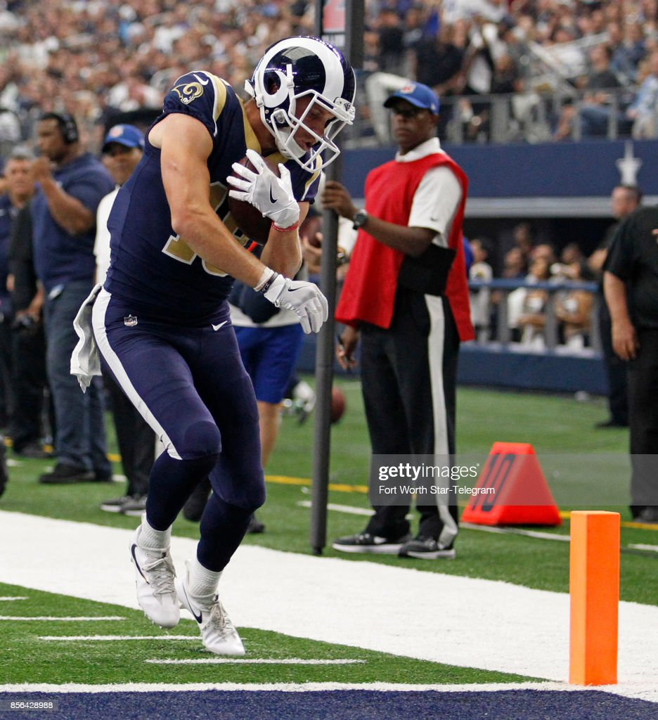 c034fdbb0 ... Los Angeles Rams wide receiver Cooper Kupp (18) scores on a short 7- ...