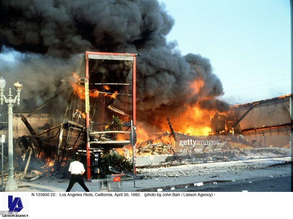 Los Angeles Riots, California, April 30, 1992.