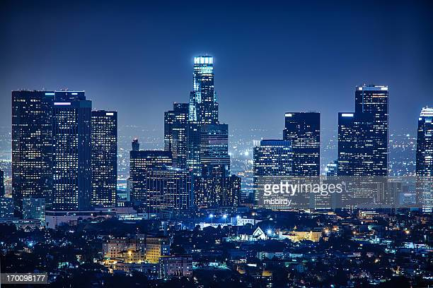 Los Angeles skyline by night, California, USA