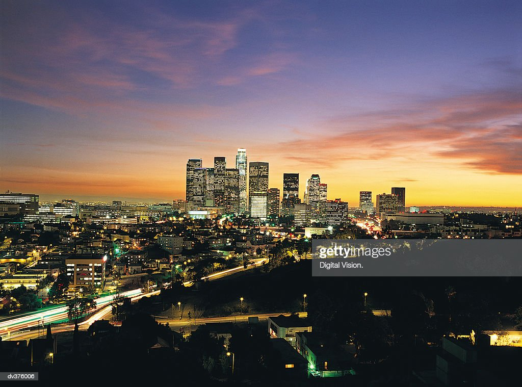 Los Angeles skyline, California, USA : Stock Photo