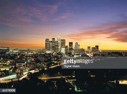 Los Angeles skyline, California, USA : Stock Photo