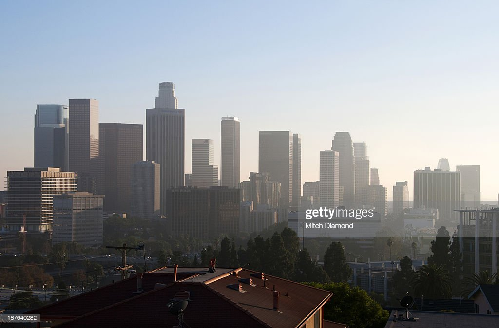Los Angeles skyline in the late afternoon
