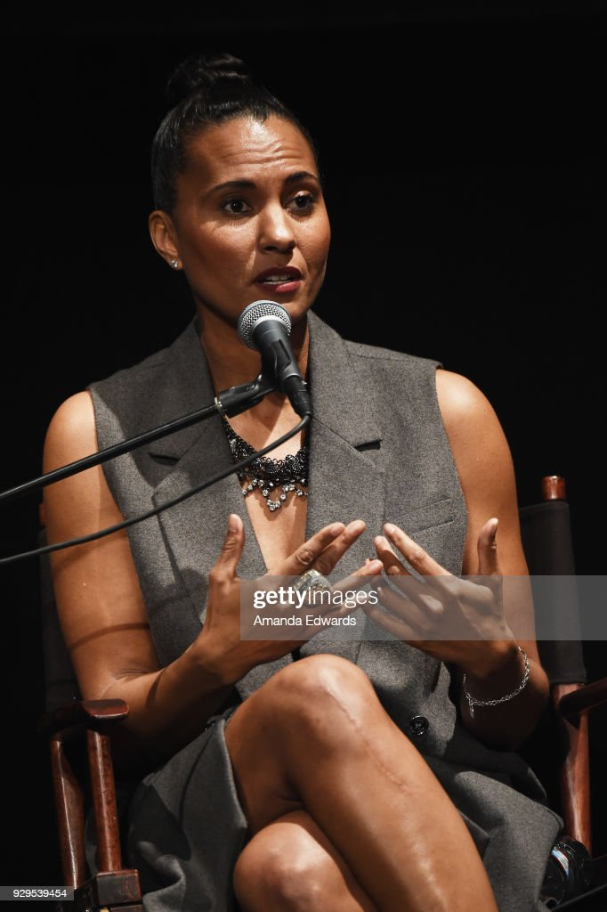 Los Angeles Sparks President and COO Christine Simmons attends The Wiltern's Women's Day Celebration screening and panel for 'Battle of the Sexes' at The Wiltern on March 8, 2018 in Los Angeles, California.