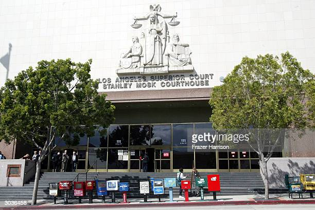 Los Angeles Superior Court Stanley Mosk Courthouse March 2 2004 in Los Angeles Hills California