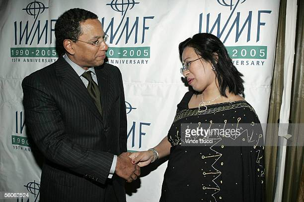 Los Angeles Times Editor In Chief Dean Baquet and reporter Sumi Khan attend The International Women's Media Foundation's 2005 Courage In Journalism...