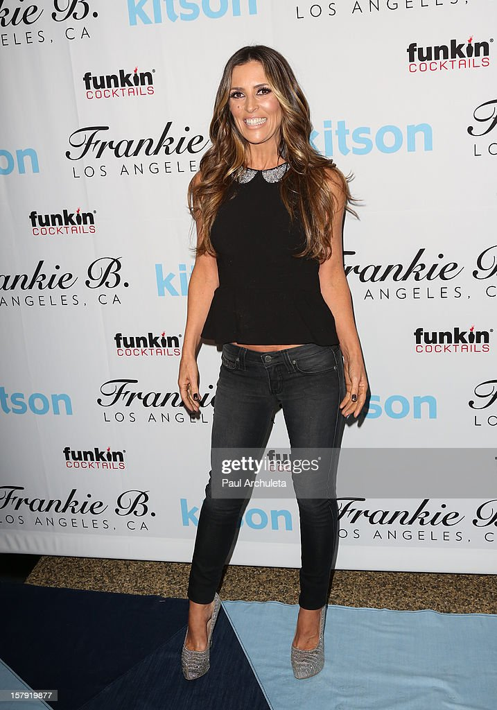 Los Angeles TV Personality Jillian Barberie attends the Get Festive With Frankie B. and Kitson event at Kitson on Roberston on December 6, 2012 in Beverly Hills, California.