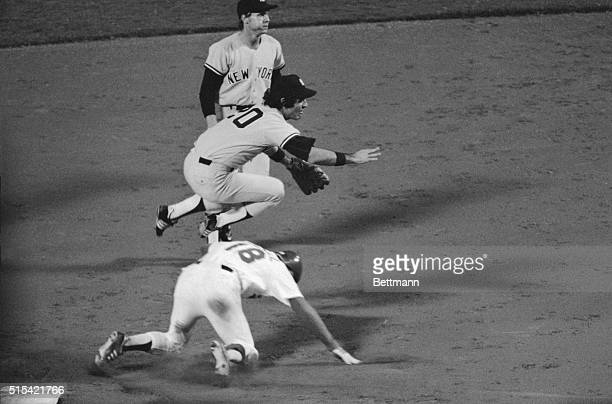 Two of the Yankee batting stars in game six of the World Series 10/17 participated in a key double play that choked a Dodger rally in the third...