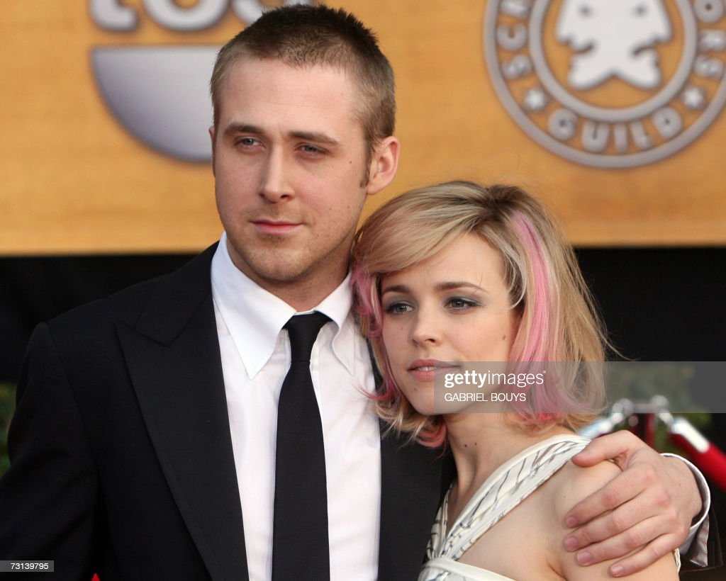 Actors Ryan Gosling and Rachel McAdams arrive on the red carpet of the 13th Annual Screen Actors Guild Awards in Los Angeles 28 January 2007 AFP...