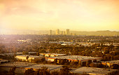 Los Angeles view- century City and industrial culver city area