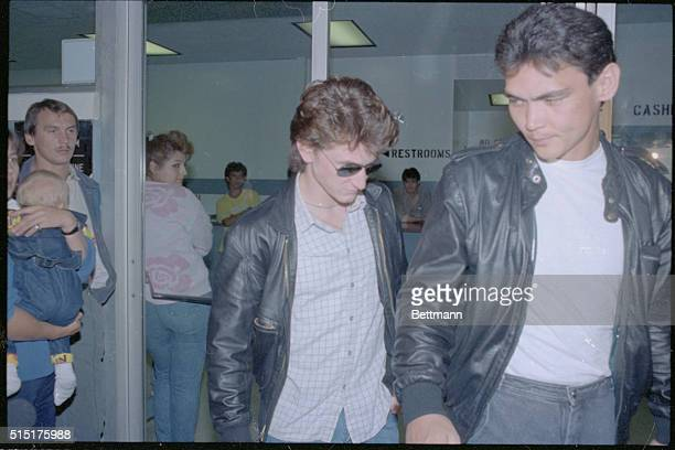 With a friend trying to run interference actor Sean Penn leaves Los Angeles County jail after serving about half of his 60 day sentence for...