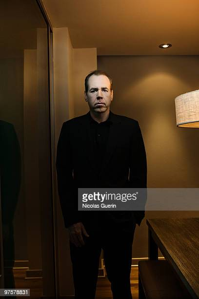 Writer Bret Easton Ellis poses at a portrait session for Self Assignment in Los Angeles on February 9 2009