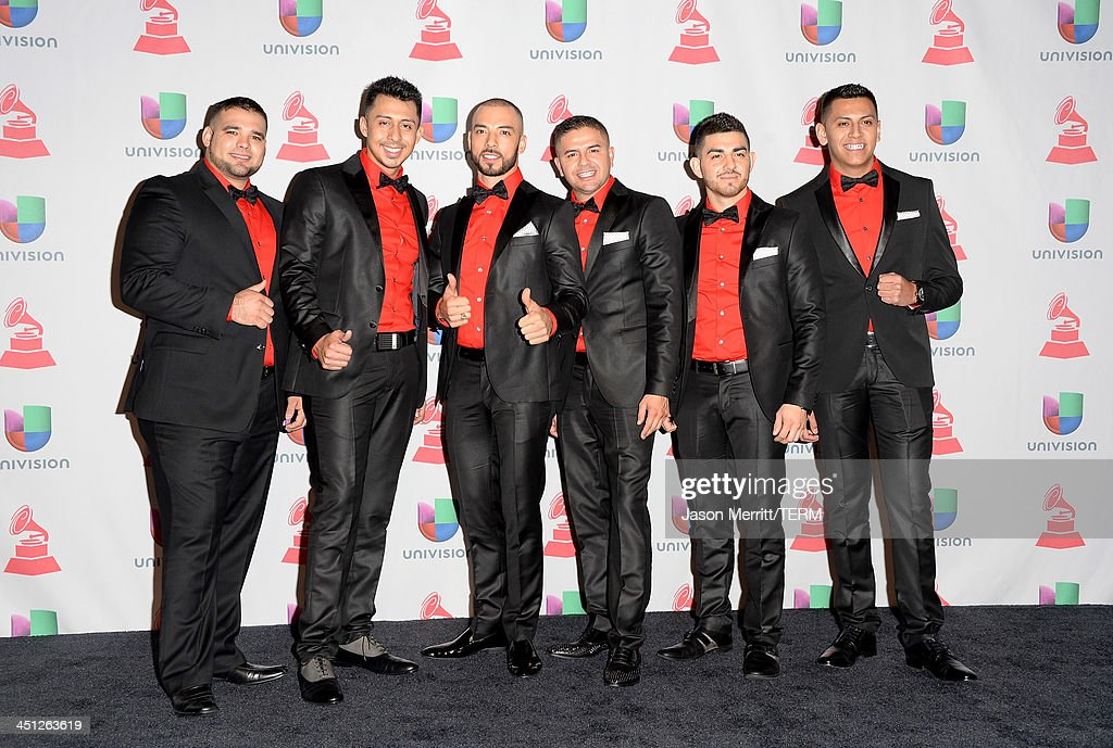 Los Canarios poses in the press room at the 14th Annual Latin GRAMMY Awards held at the Mandalay Bay Events Center on November 21, 2013 in Las Vegas, Nevada.