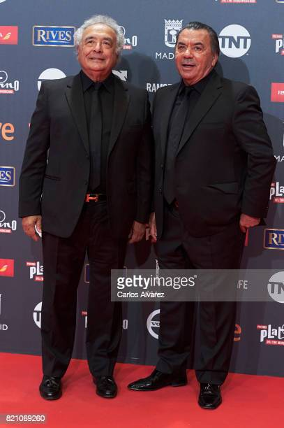 Los del Rio attends the Platino Awards 2017 photocall at the La Caja Magica on July 22 2017 in Madrid Spain