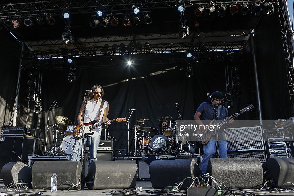 Los Lonely Boys perform on Day 10 of the RBC Royal Bank Bluesfest on July 14, 2013 in Ottawa, Canada.