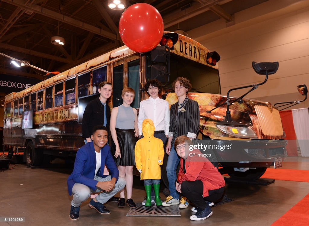 'IT': Losers' Club cast (L-R) Chosen Jacobs, Jaeden Lieberher, Sophia Lillis, Finn Wolfhard, Wyatt Oleff and Jeremy Ray Taylor attend the upcoming theatrical release 'IT' as it rolls into Canada's largest genre convention with haunting VR experience at Metro Toronto Convention Centre on September 1, 2017 in Toronto, Canada.