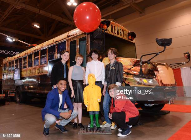 'IT' Losers' Club cast Chosen Jacobs Jaeden Lieberher Sophia Lillis Finn Wolfhard Wyatt Oleff and Jeremy Ray Taylor attend the upcoming theatrical...