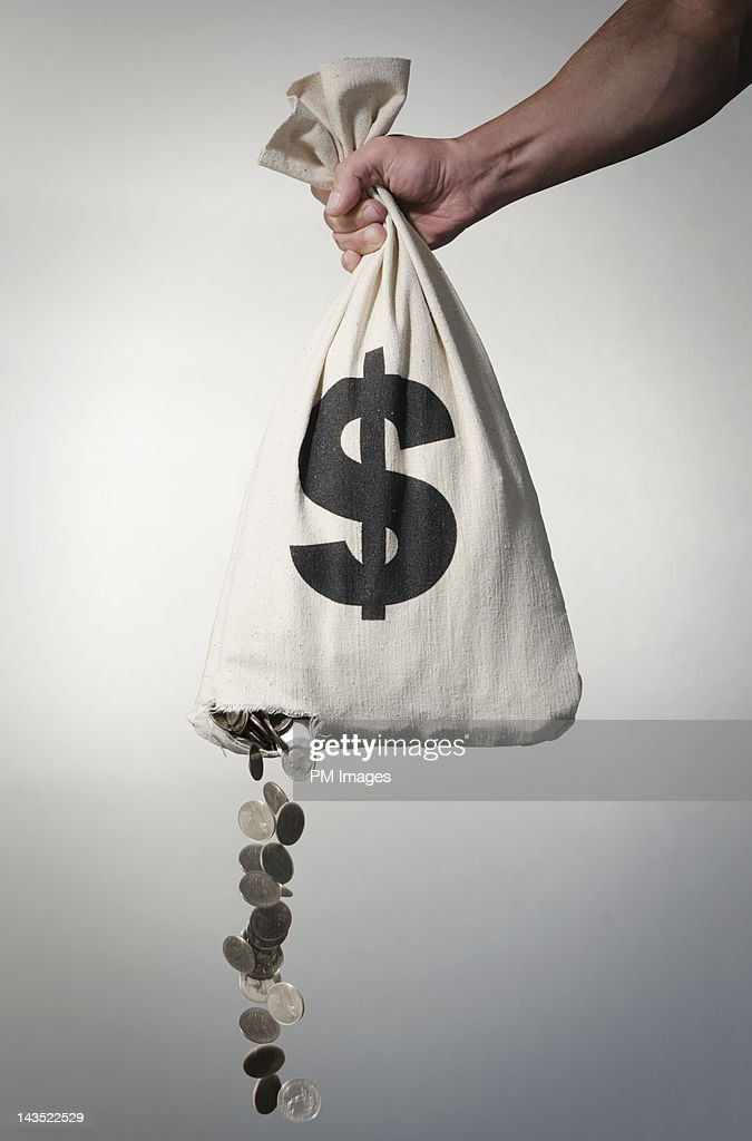 Losing money : Stock Photo