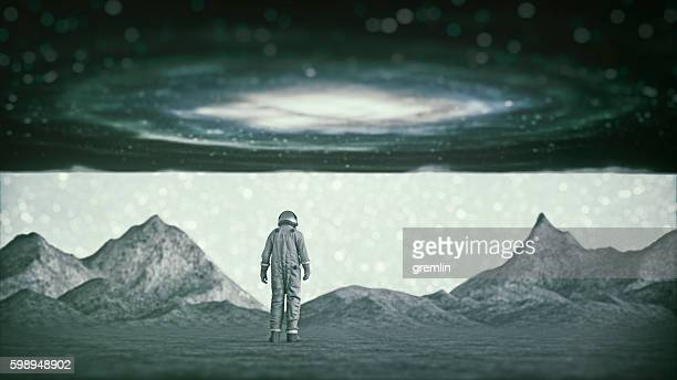 Lost astronaut on a distant planet