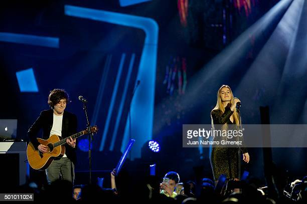 Lost Frequencies perform on stage during '40 Principales Awards 2015 Gala' at Barclaycard Center on December 11 2015 in Madrid Spain