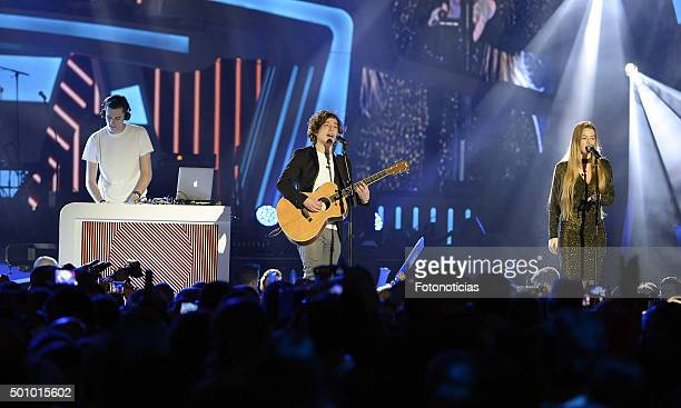 Lost Frequencies performs during the 40 Principales Awards Gala at the Barclaycard Center on December 11 2015 in Madrid Spain