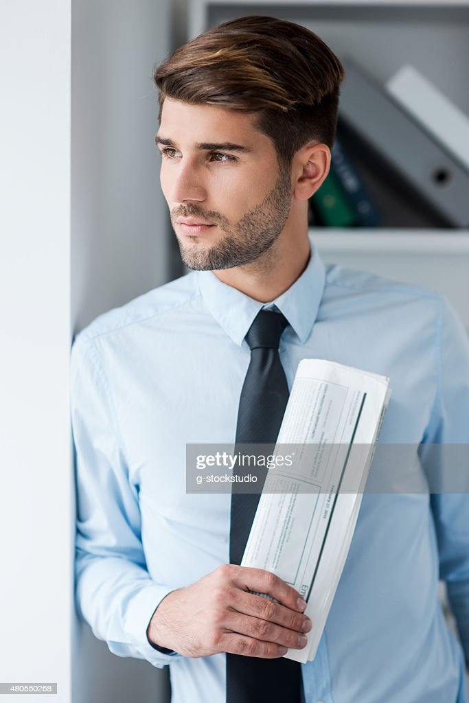 Lost in business thoughts. : Stock Photo