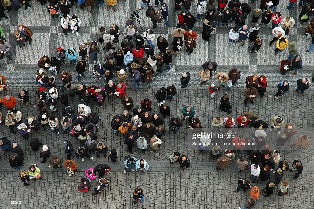 Lost in crowd : Stock Photo