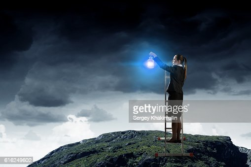 Lost in darkness . Mixed media : Stock Photo