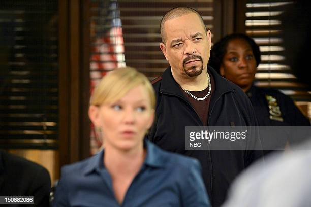 UNIT 'Lost Reputation' Episode 1401 Pictured Kelli Giddish as Detective Amanda Rollins IceT as Det Odafin 'Fin' Tutuola