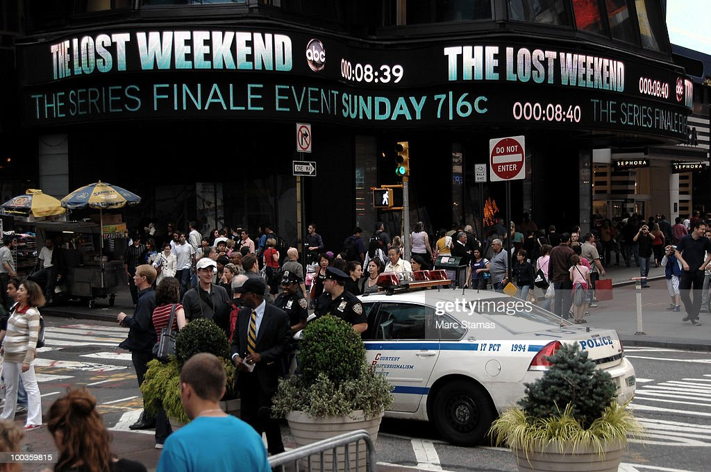'Lost' Series Finale in Times Square on May 23, 2010 in New York City.