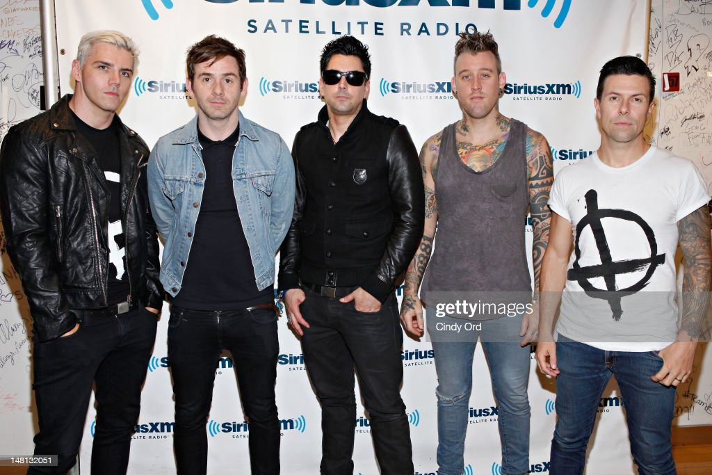 Lostprophets visit the SiriusXM Studio on July 10, 2012 in New York City.