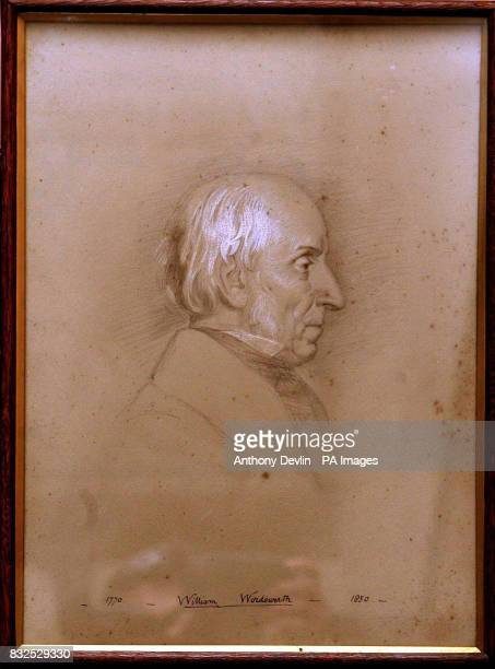 Lot 98 a portrait drawing of William Wordsworth after Leonard Charles Wyon which sold for 3360 in today's auction by Sothebys at The Chanter's House...