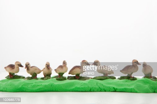 A lot of baby birds are twittering. : Stock Photo