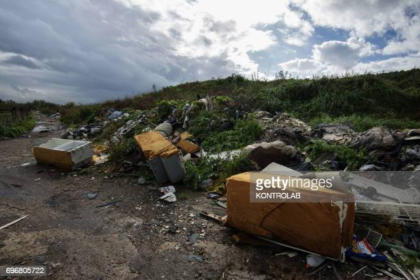 A lot of garbage abandoned around Naples and Caserta hinterland The area is suspected to be full of toxic refuse