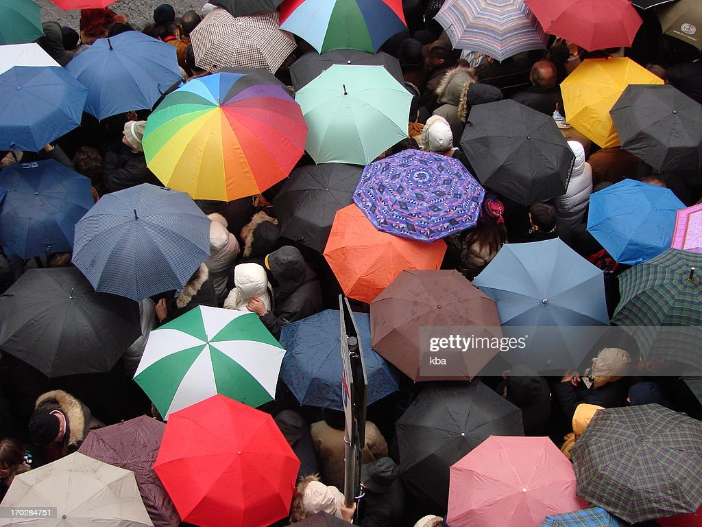 a lot of umbrellas waiting for somebody stock photo getty images