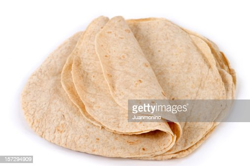 Lot of whole wheat flour mexican tortillas