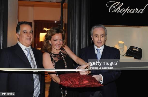 Lotfi Sefrioui Caroline Scheufele and Opera Singer Jose Carreras attend Chopard Flagship Boutique Launch in Hotel La Mamounia at Hotel La Mamounia on...
