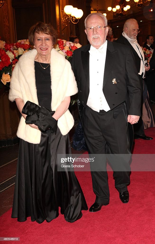 Lothar de Maiziere and his wife during the Semper Opera Ball 2015 (Semperopernball) at Semperoper on January 30, 2015 in Dresden, Germany.