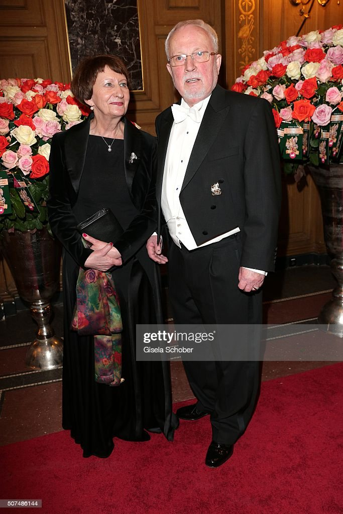 Lothar de Maiziere and his wife Martina de Maiziere during the Semper Opera Ball 2016 (german: Semper Opernball) at Semperoper on January 29, 2016 in Munich, Germany.