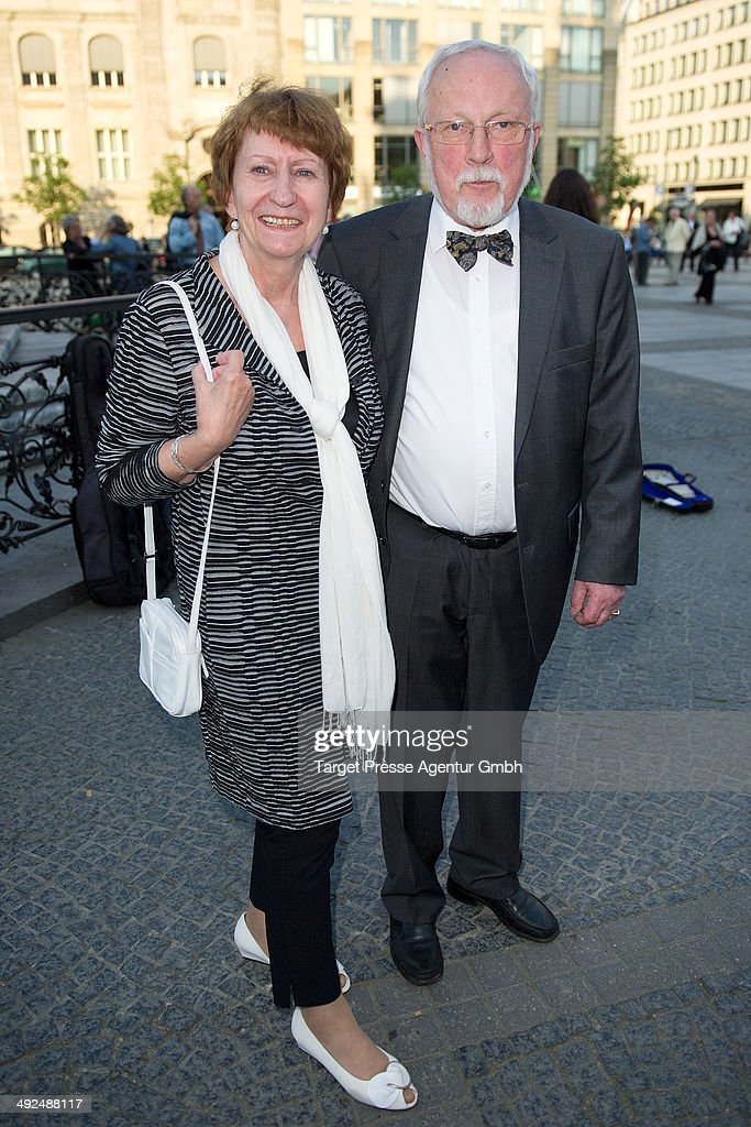 Lothar de Maiziere and his wife Martina attend the 70th birthday celebration for Justus Frantz at Konzerthaus Am Gendarmenmarkt on May 20, 2014 in Berlin, Germany.