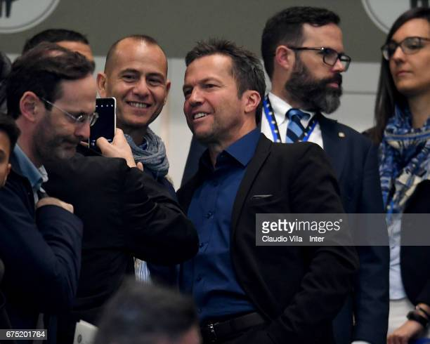 Lothar Herbert Matthaus before the Serie A match between FC Internazionale and SSC Napoli at Stadio Giuseppe Meazza on April 30 2017 in Milan Italy