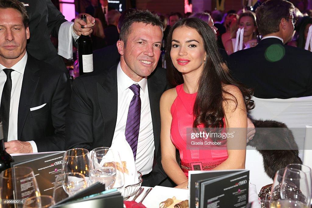 Lothar Matthaeus and his girlfriend Anastasia Klimko attend the Audi Generation Award 2015 at Hotel Bayerischer Hof on December 2 2015 in Munich...